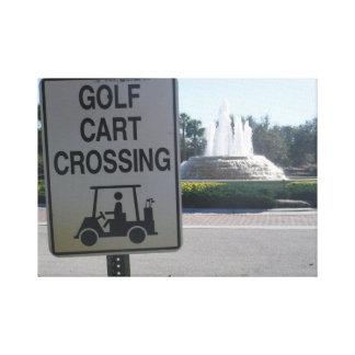 Golf Cart Crossing Canvas Print