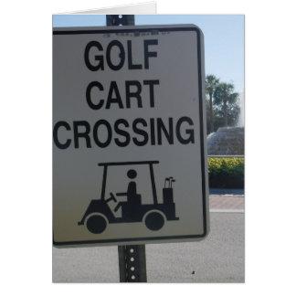 Golf Cart Crossing Card
