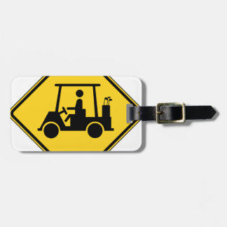 Golf Cart Crossing Sign Luggage Tag