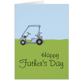 Golf Cart - Customized Greeting Card