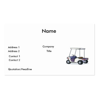 golf cart graphic business card template