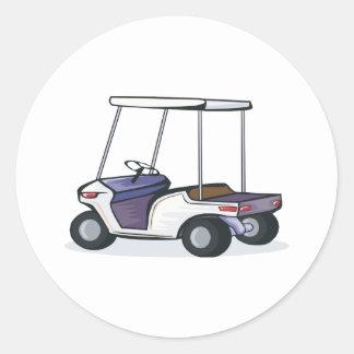 golf cart graphic round sticker