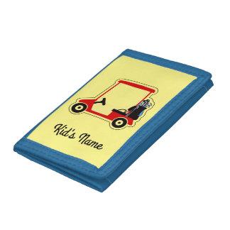 Golf cart tri-fold wallets