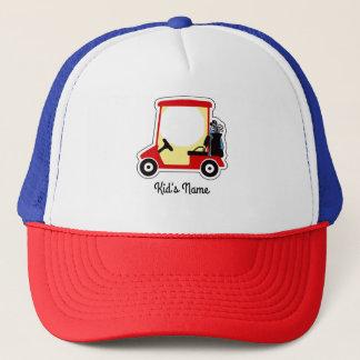 Golf cart trucker hat