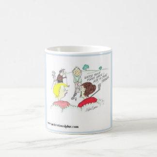 Golf cartoon for female golfers coffee mug
