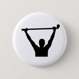 Golf champion winner 6 cm round badge