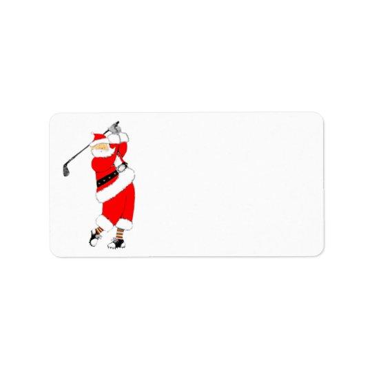 Golf Christmas Address Label