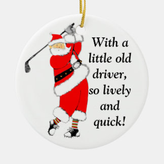 Golf Christmas Collectible Ceramic Ornament