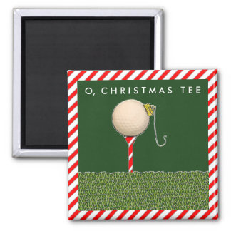 Golf Christmas Magnet