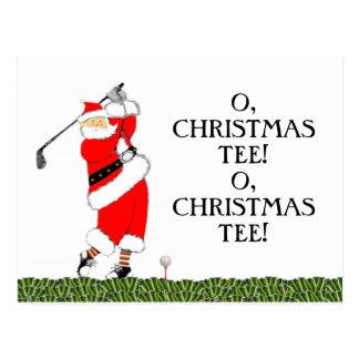 Golf Christmas Postcard