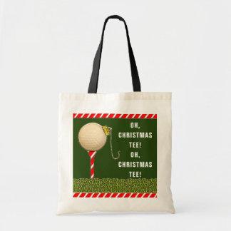 golf Christmas Tote Bag