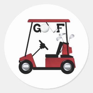 Golf Classic Round Sticker