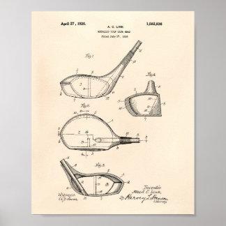 Golf Club 1926 Patent Art - Old Peper Poster