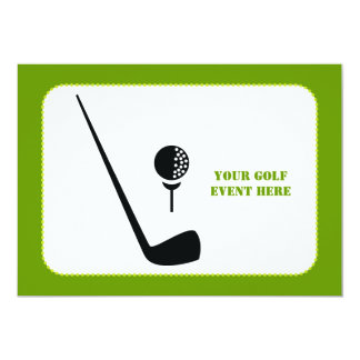 Golf club and ball black, green custom card