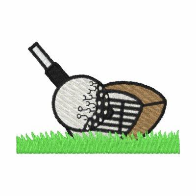 Golf Club And Ball Embroidered Shirt