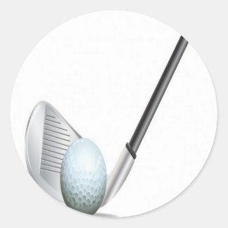 Golf club and golf ball design stickers