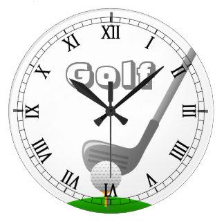 Golf Club, Ball & Tee - Custom Clock
