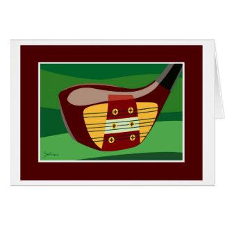 Golf club head card