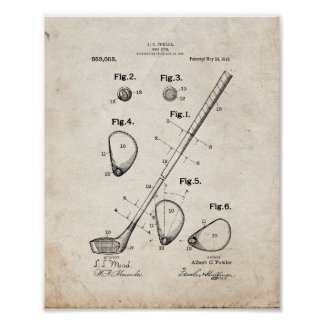 Golf-club Patent - Old Look Poster