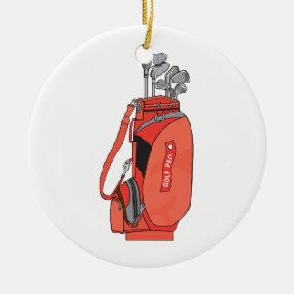 golf clubs ceramic ornament
