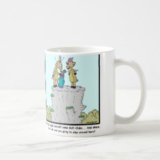 Golf clubs: Mountain Goat cartoon Coffee Mug