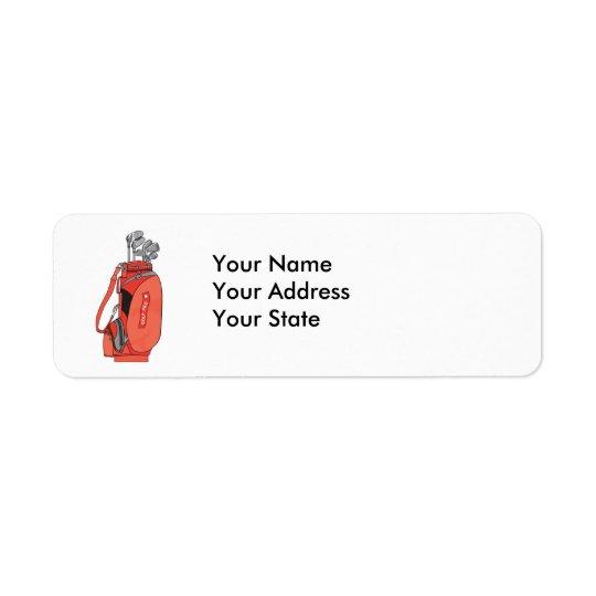 golf clubs return address label