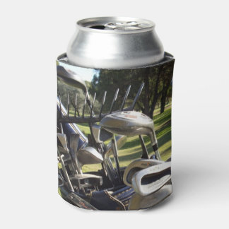 Golf Clubs Stubby Can Holder. Can Cooler