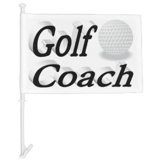 Golf Coach 3D Car Flag