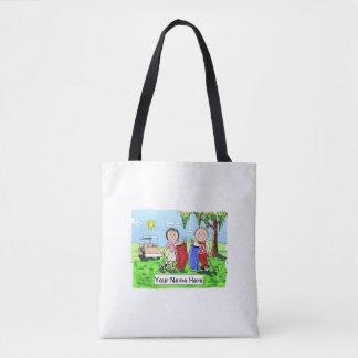 Golf Couple Tote Bag