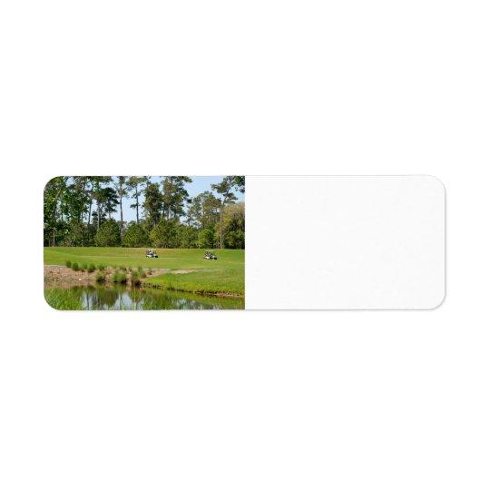 golf course florida return address label