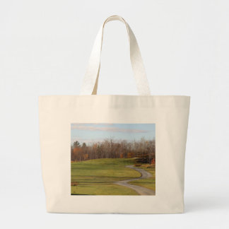 Golf Course Large Tote Bag