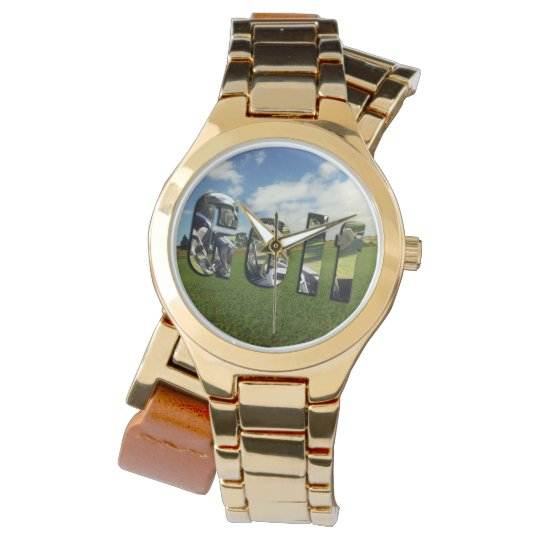 Golf Course Logo, Ladies Gold Wrap Watch