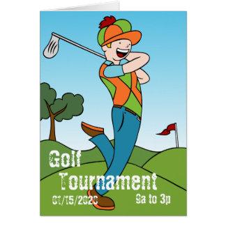 Golf Course Man Playing Golfer Greeting Card