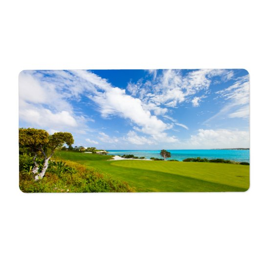 Golf course shipping label