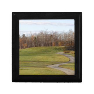 Golf Course Small Square Gift Box