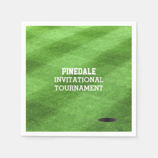 Golf Course Turf Personalized Paper Serviettes
