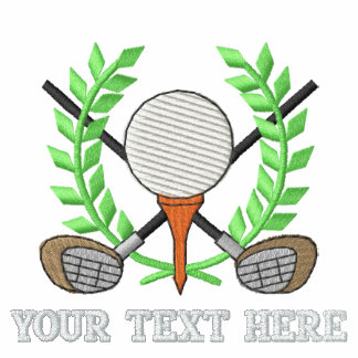 Golf Crest - add your text - father's day Polo Shirts