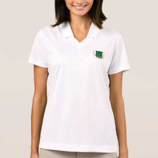 GOLF Crest and Clubs Laurel Wreath Womens Polo T-shirt