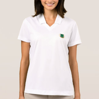 GOLF Crest with Laurel Wreath and Clubs Polo T-shirts