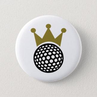 Golf crown 6 cm round badge