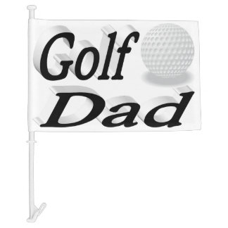 Golf Dad 3D Car Flag