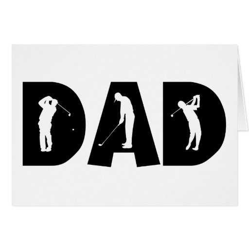 Golf Dad Gift Greeting Cards