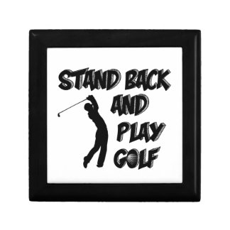 golf design small square gift box