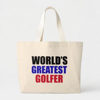golf Designs Large Tote Bag