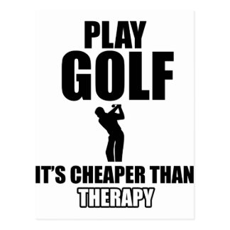 Golf designs postcard