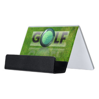 Golf Desk Business Card Holder