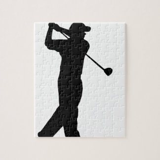 Golf Drive Silhouette Jigsaw Puzzle