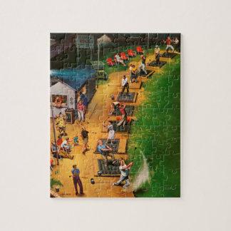 Golf Driving Range by John Falter Jigsaw Puzzle