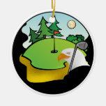 Golf Eagle Christmas Tree Ornaments