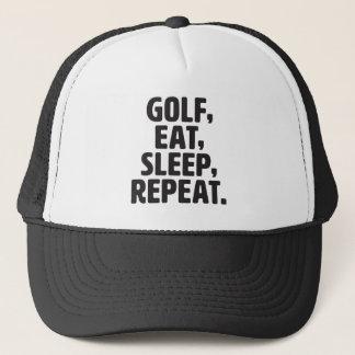 Golf, Eat, Sleep, Repeat Trucker Hat